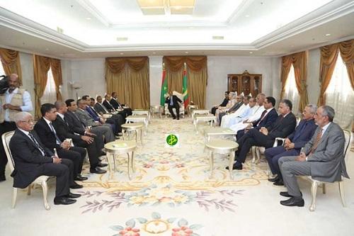 Le Président reçoit les membres de l'UNPM
