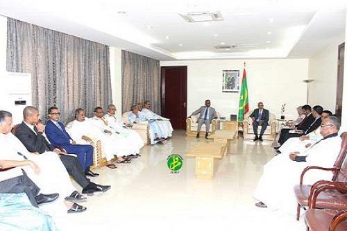 الوزير الأول يستقبل رئيس وأعضاء المكتب الجديد للإتحاد الوطني لأرباب العمل الموريتانيين